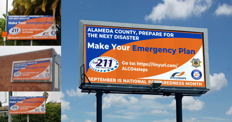 Alameda County Emergency Plan Billboards